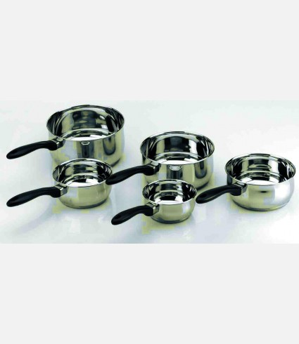 PACK OF 5 SAUCEPANS GARINOX
