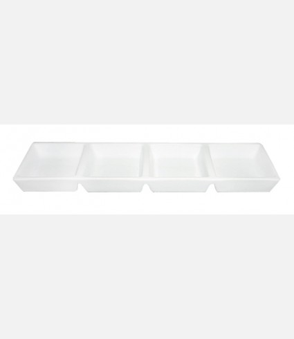 4 Compartments Plate