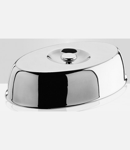 Oval cloche with knob