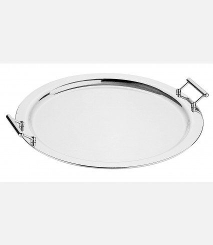 Round edged tray with handles