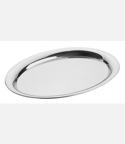 Edged oval tray