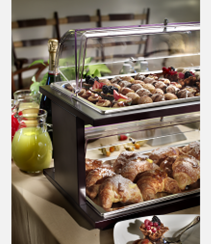 Double Deck rectangular trays with covers for pastries