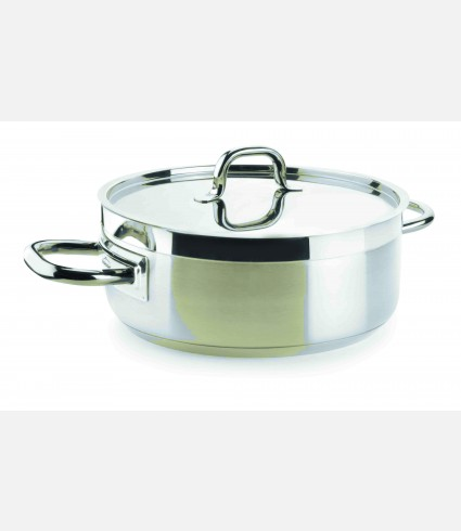 CASSEROLE WITH LID D.28 CM CHEF LUXE