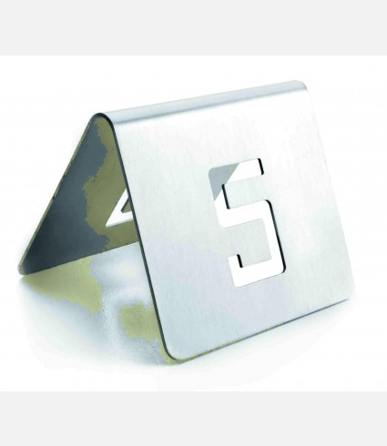 TABLE NUMBERS 6x5 CM. 13-24 ST. STEEL