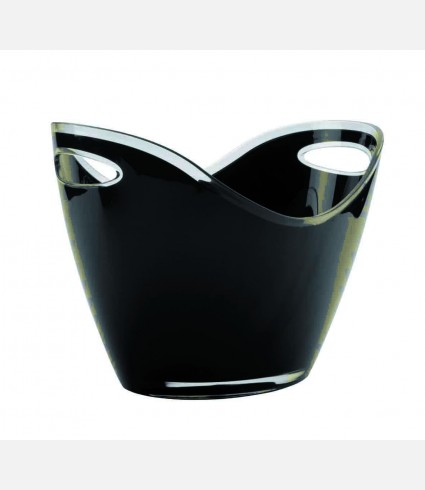 ACRYLIC BLACK WINE COOLER TWO HANDS
