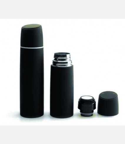 BLACK VACCUM FLASK 0.50 LT ST STEEL
