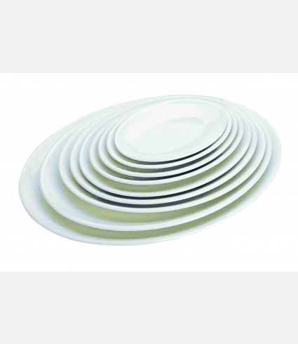MELAMINE OVAL TRAY 280X200X24 MM.