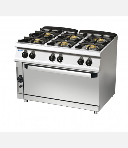 6-BURNER GAS RANGE ON GAS WIDE OVEN