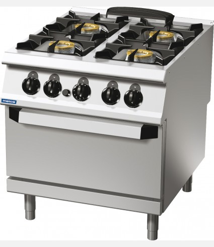4-BURNER GAS RANGE ON GAS OVEN
