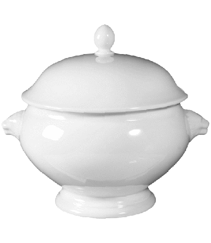 Lion head tureen with cover
