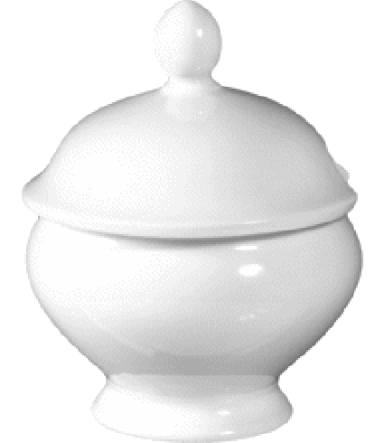 Mustard pot with cover