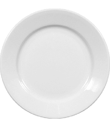 Plate flat with rim