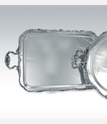 C 0489 MB / Rectangular Tray, SHELL border and handles