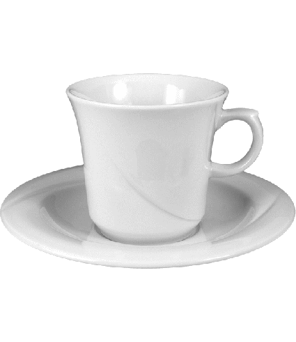 Cafet saucer non stack. 16 cm