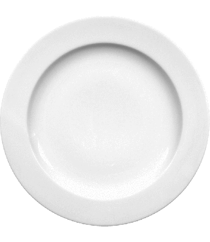 Plate flat with rim  21 cm