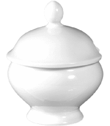 Mustard pot with lid