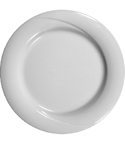Plate flat with rim  23 cm