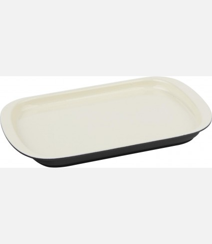 Service Dish, Rectangular, 32x20cm. Color:Cream