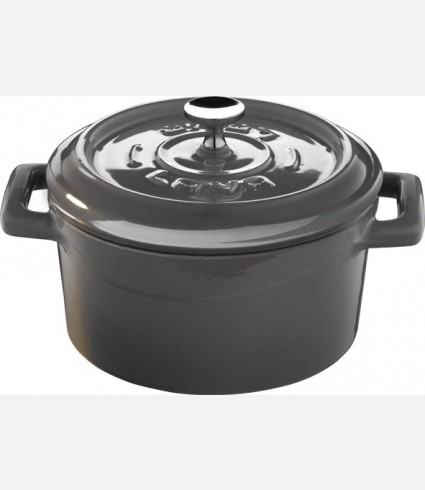 Cast Iron Mini Casserole - Size: dia.10 cm. Gray