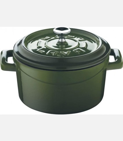 Cast Iron Mini Casserole - Sizlv e: dia.10 cm. green