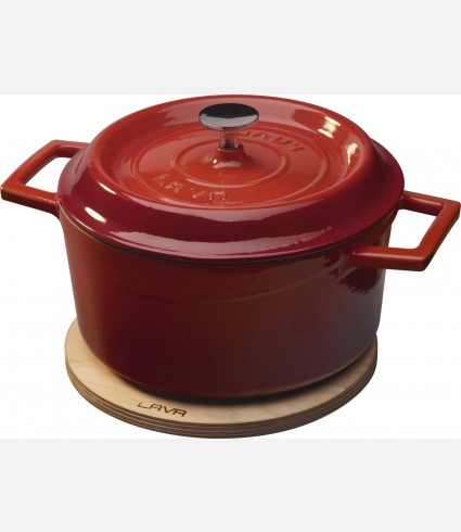Cast Iron Round Casserole - dia.12 cm. Red