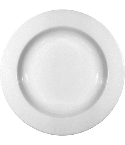 Plate deep with rim  23 cm
