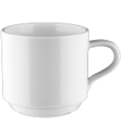 Coffee cup 0,25 ltr. stackable
