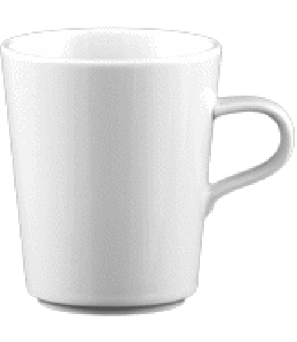 Mug w. handle non stack. 0,28 ltr.