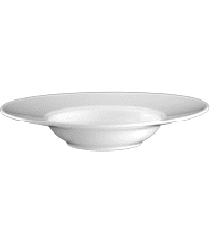 Plate deep oval with rim 25 cm