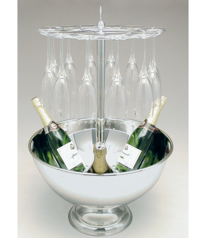 C/1012 BIS Champagne bowl with stand for 12 glasses Ø 470