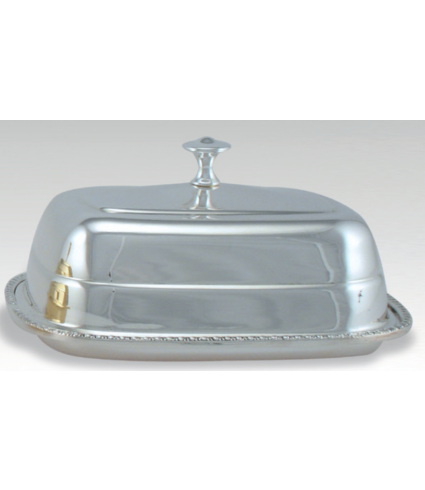 C/253 B BUTTER DISH WITH BORDER AND COVER