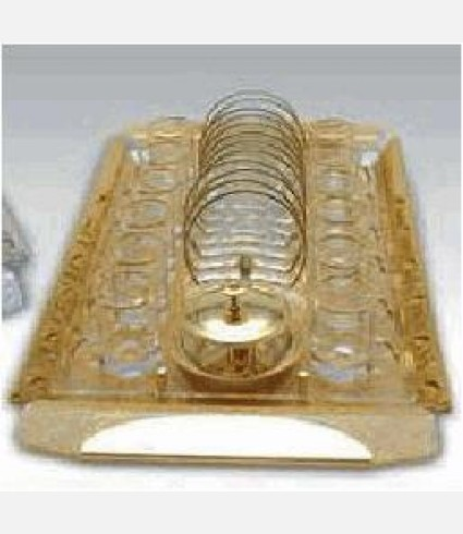 C 0146 S / Rectangular Tray, Silver Leaf plexi base, Silver plated details