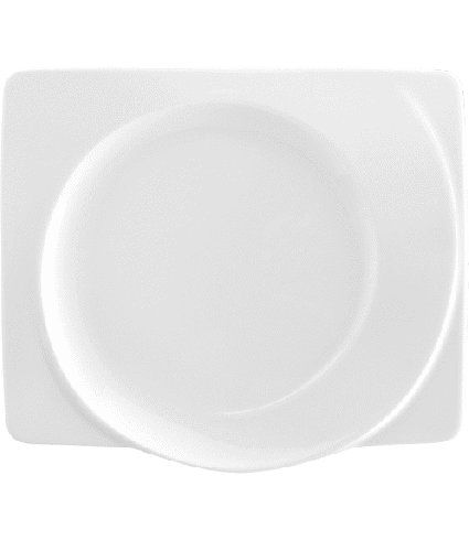 Plate flat rect.  25 cm
