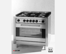 Gas cooker - 5 burners with electric oven