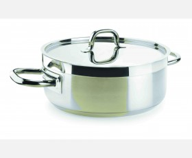 CASSEROLE WITH LID D.24 CM CHEF LUXE