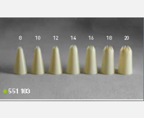 Icing tubes - serrated