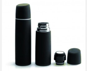 BLACK VACCUM FLASK 0.35 LT ST STEEL