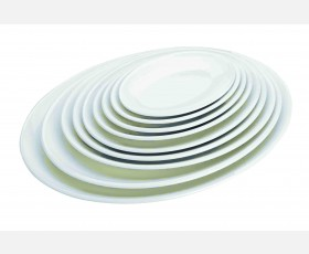 MELAMINE OVAL TRAY 250X183X22 MM.