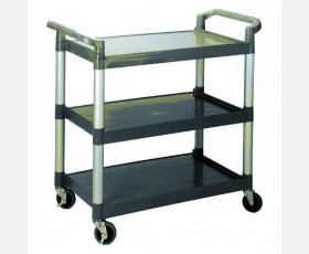 SERVICE TROLLEY WITH 3 POLYETHYKLENE SHE
