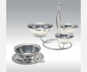 "C 0298 / HORSE D""OEUVRE W/ NO. 1 GLASS BOWL 90; NO.1 GLASS BOWL 110; NO. 1 GLASS BOWL 140;"