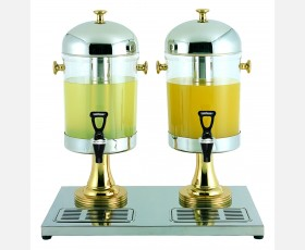 Double Juice Dispenser (w/brass handles,knobs and Legs)