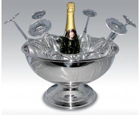 C/2020 Champagne bowl with stand for 6 glasses Ø 380